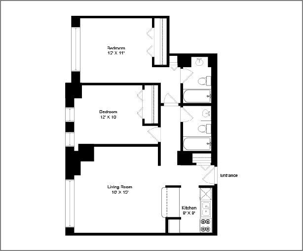 2 Bedrooms 2 Bathrooms Apartment for rent at Madison Park Apartments in Chicago, IL