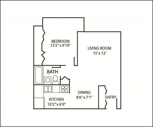1 Bedroom 1 Bathroom Apartment for rent at The Arbors Of Glen Ellyn in Glen Ellyn, IL
