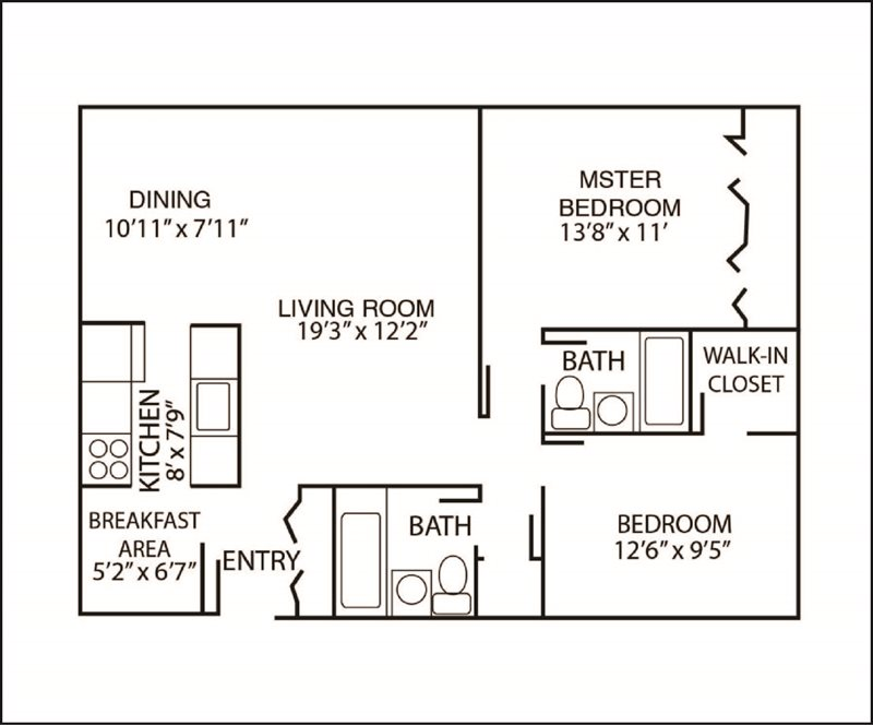 2 Bedrooms 2 Bathrooms Apartment for rent at The Arbors Of Glen Ellyn in Glen Ellyn, IL