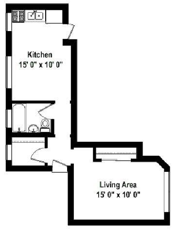 Studio 1 Bathroom Apartment for rent at Shorewind Court Apartments in Chicago, IL