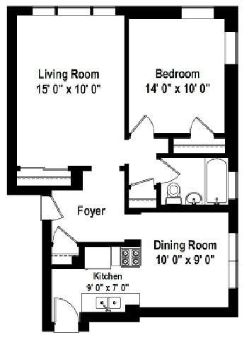 1 Bedroom 1 Bathroom Apartment for rent at Shorewind Court Apartments in Chicago, IL