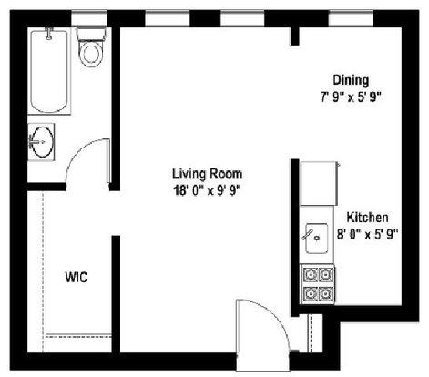 Studio 1 Bathroom Apartment for rent at Shorewind Towers Apartments in Chicago, IL