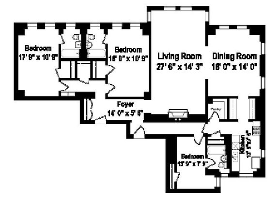 3 Bedrooms 3 Bathrooms Apartment for rent at Shorewind Towers Apartments in Chicago, IL