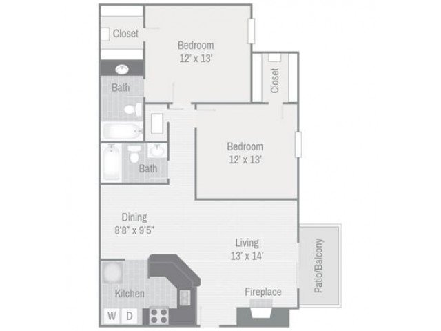 2 Bedrooms 2 Bathrooms Apartment for rent at Bellevue West in Nashville, TN