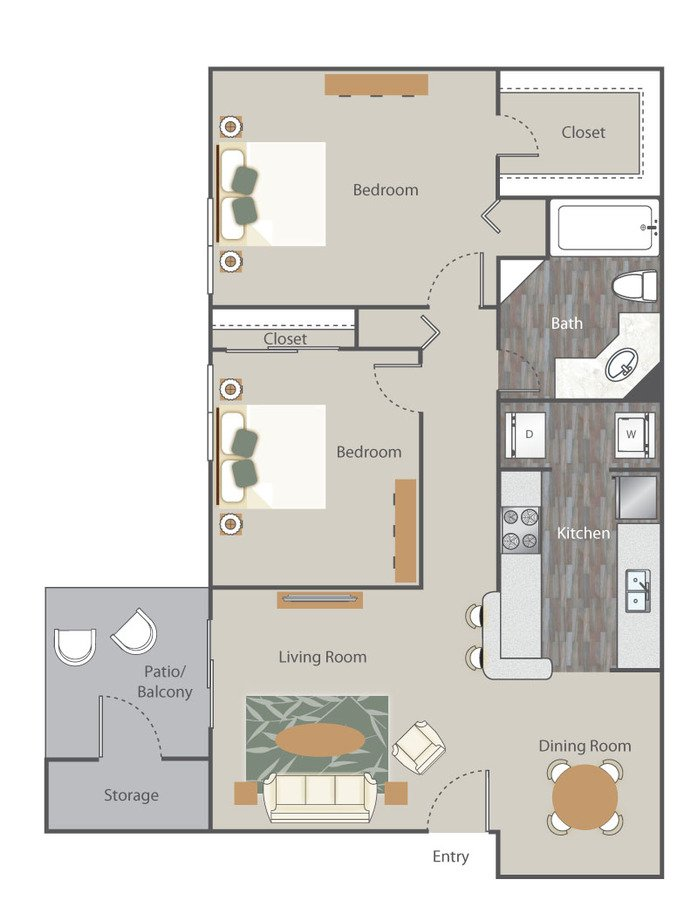 2 Bedrooms 1 Bathroom Apartment for rent at The Retreat At Rocky Ridge in Birmingham, AL