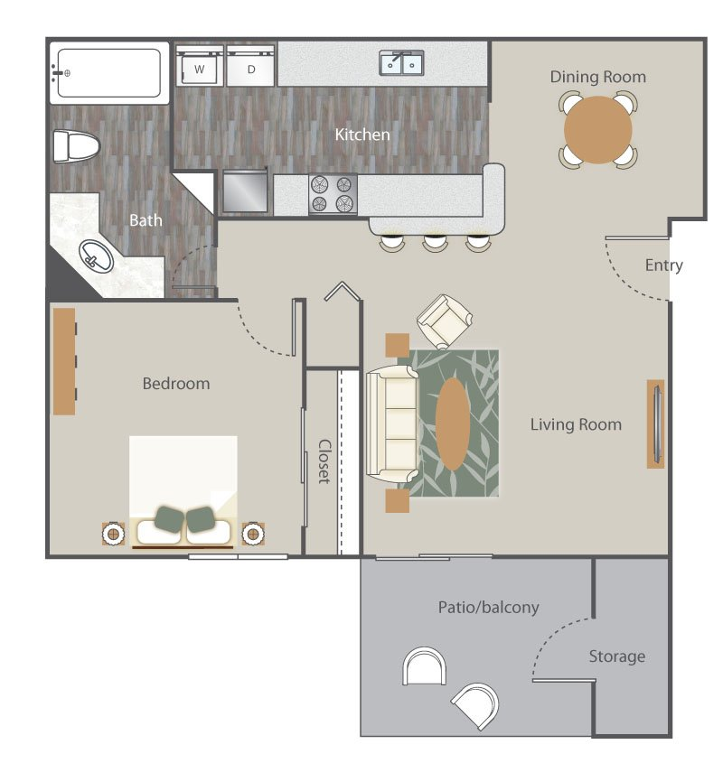 1 Bedroom 1 Bathroom Apartment for rent at The Retreat At Rocky Ridge in Birmingham, AL