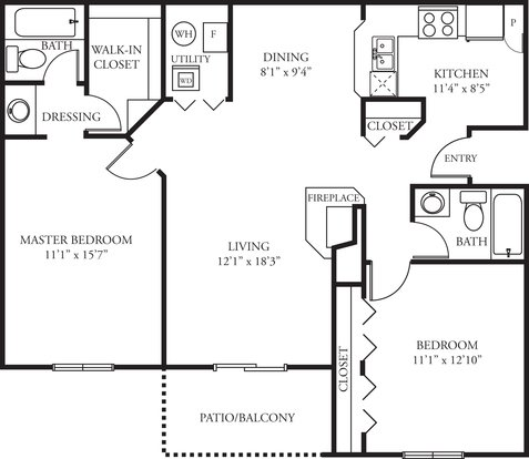 2 Bedrooms 2 Bathrooms Apartment for rent at Green Trails in Lisle, IL