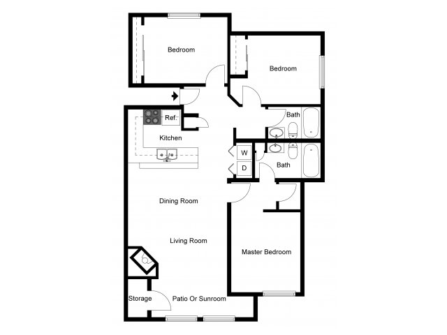 3 Bedrooms 2 Bathrooms Apartment for rent at Indigo Springs in Kent, WA
