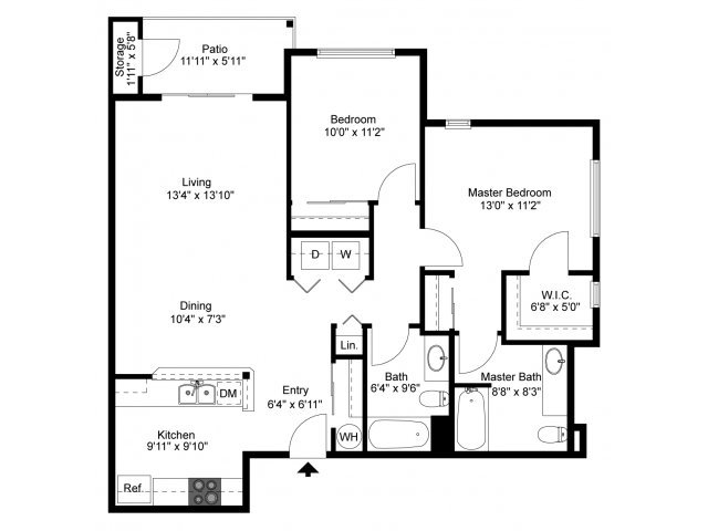 2 Bedrooms 2 Bathrooms Apartment for rent at Indigo Springs in Kent, WA