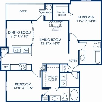 2 Bedrooms 2 Bathrooms Apartment for rent at Camden Ballantyne in Charlotte, NC
