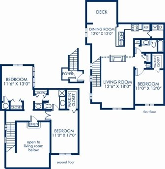3 Bedrooms 2 Bathrooms Apartment for rent at Camden Ballantyne in Charlotte, NC