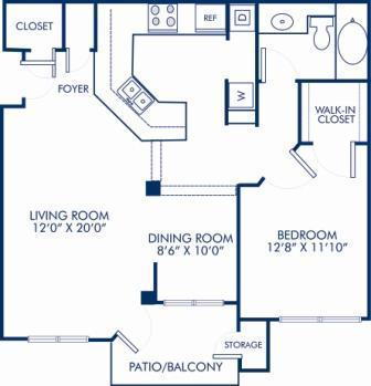 1 Bedroom 1 Bathroom Apartment for rent at Camden St. Clair in Atlanta, GA