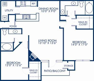 2 Bedrooms 2 Bathrooms Apartment for rent at Camden St. Clair in Atlanta, GA