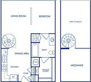 Studio 1 Bathroom Apartment for rent at Camden Midtown Atlanta in Atlanta, GA