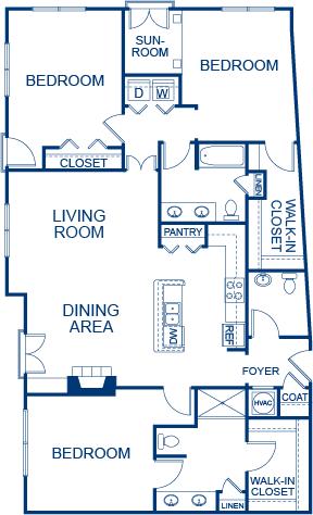 3 Bedrooms 2 Bathrooms Apartment for rent at Camden Midtown Atlanta in Atlanta, GA