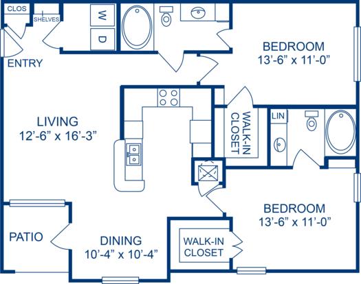 2 Bedrooms 2 Bathrooms Apartment for rent at Camden Buckingham in Richardson, TX