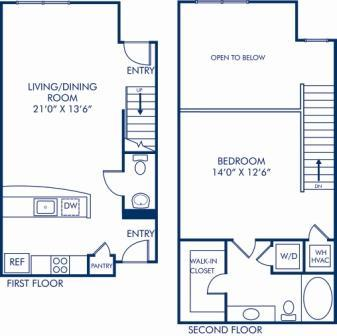 1 Bedroom 1 Bathroom Apartment for rent at Camden Fairfax Corner in Fairfax, VA