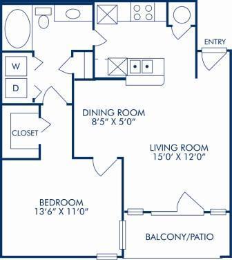 1 Bedroom 1 Bathroom Apartment for rent at Camden Huntingdon in Austin, TX