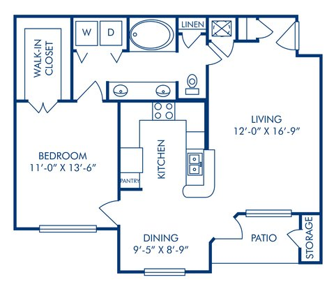 1 Bedroom 1 Bathroom Apartment for rent at Camden Buckingham in Richardson, TX