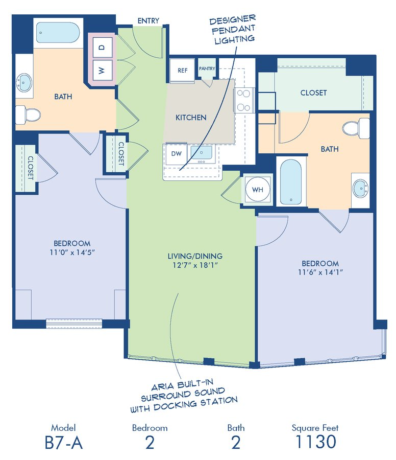2 Bedrooms 2 Bathrooms Apartment for rent at Camden Noma in Washington, DC