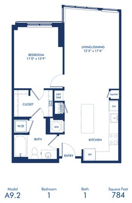 1 Bedroom 1 Bathroom Apartment for rent at Camden Noma Ii in Washington, DC