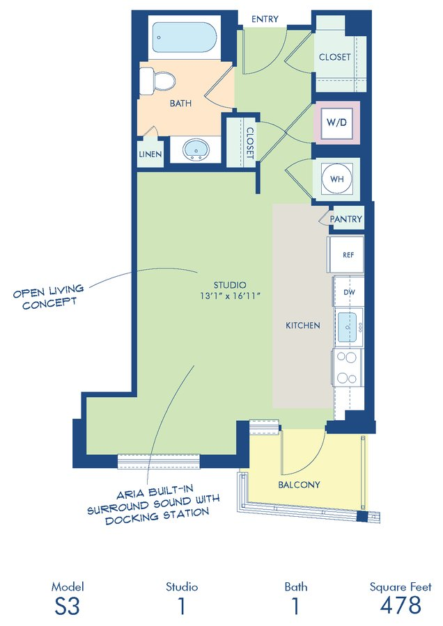 Studio 1 Bathroom Apartment for rent at Camden Noma in Washington, DC