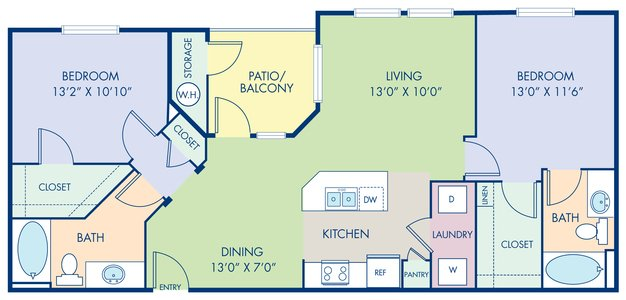 2 Bedrooms 2 Bathrooms Apartment for rent at Camden Chandler in Chandler, AZ