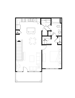 1 Bedroom 1 Bathroom Apartment for rent at Springs At West Chester in West Chester, OH