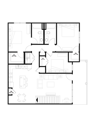 3 Bedrooms 2 Bathrooms Apartment for rent at Springs At West Chester in West Chester, OH