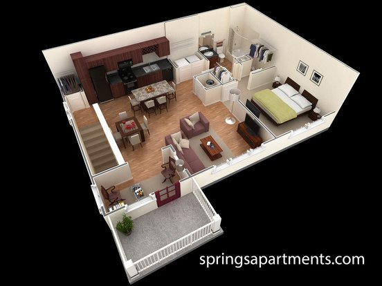 1 Bedroom 1 Bathroom Apartment for rent at Springs At Six Mile Cypress in Fort Myers, FL
