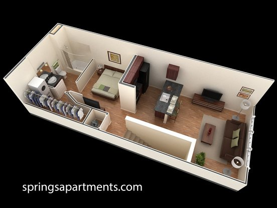 Studio 1 Bathroom Apartment for rent at Springs At Weber Road in Romeoville, IL
