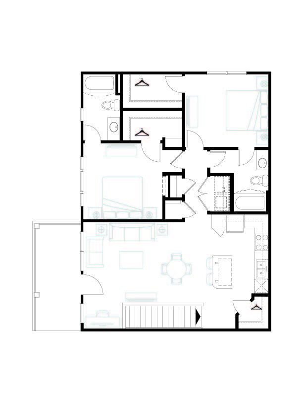 2 Bedrooms 2 Bathrooms Apartment for rent at Springs At South Broadway in Rochester, MN