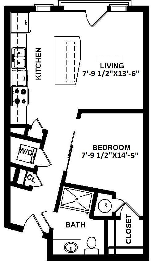 Studio 1 Bathroom Apartment for rent at 1100 South in Charlotte, NC