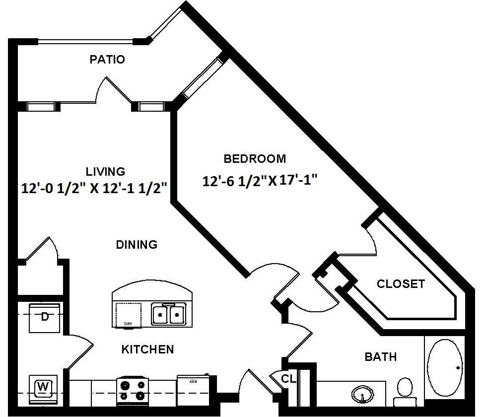 1 Bedroom 1 Bathroom Apartment for rent at 1100 South in Charlotte, NC