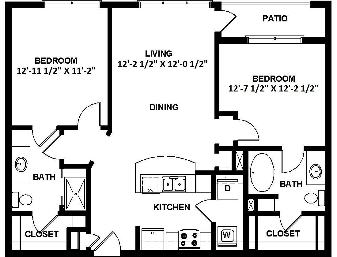 2 Bedrooms 2 Bathrooms Apartment for rent at 1100 South in Charlotte, NC