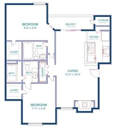 3 Bedrooms 3 Bathrooms Apartment for rent at The Falls in San Francisco, CA