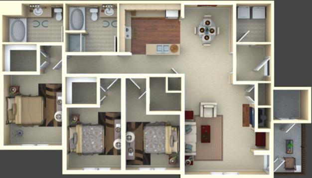 1 Bedroom 1 Bathroom Apartment for rent at The Falls in San Francisco, CA