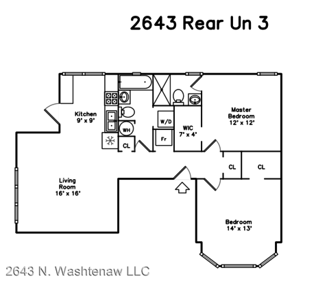 2 Bedrooms 2 Bathrooms Apartment for rent at 2643 45 N. Washtenaw Ave in Chicago, IL