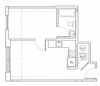 1 Bedroom 1 Bathroom Apartment for rent at The Hub On Chestnut in Philadelphia, PA