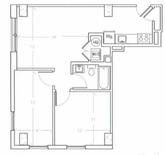 2 Bedrooms 1 Bathroom Apartment for rent at The Hub On Chestnut in Philadelphia, PA