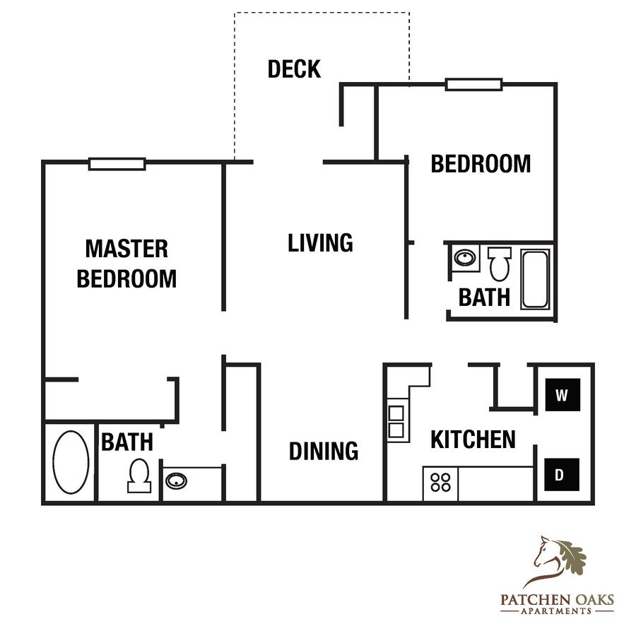 2 Bedrooms 2 Bathrooms Apartment for rent at Patchen Oaks Apartments in Lexington, KY