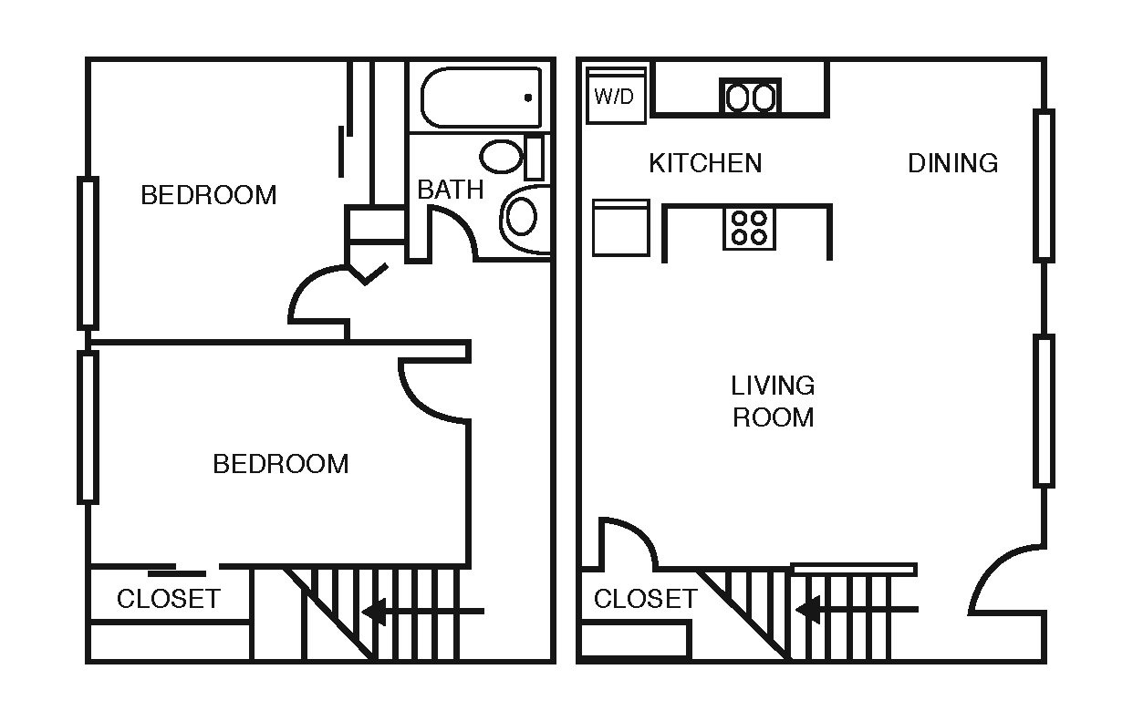 2 Bedrooms 1 Bathroom Apartment for rent at Wyndham Ridge Townhomes in Columbus, OH