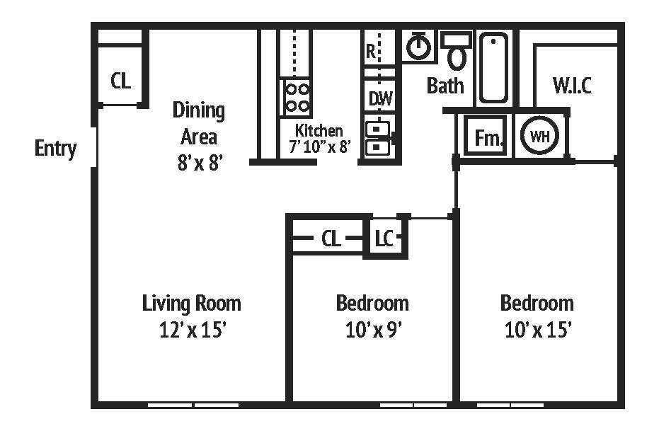 2 Bedrooms 1 Bathroom Apartment for rent at Autumn Springs Apartments in Columbus, OH