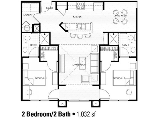 2 Bedrooms 2 Bathrooms Apartment for rent at The Flats At Campus Pointe in Charlotte, NC
