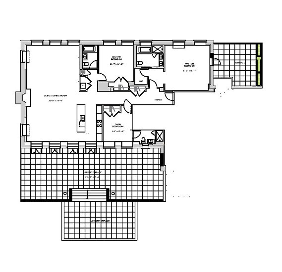 3 Bedrooms 3 Bathrooms Apartment for rent at Broad Street & Exchange Place in New York, NY