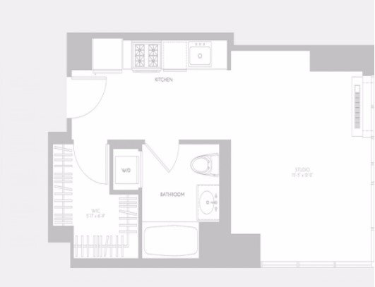 Studio 1 Bathroom Apartment for rent at 5th Avenue & East 32nd Street in New York, NY