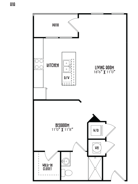 Studio 1 Bathroom Apartment for rent at District At Duluth in Duluth, GA