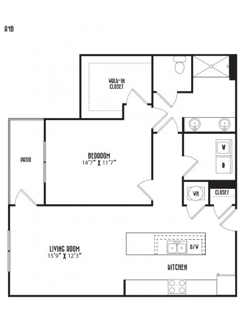 1 Bedroom 1 Bathroom Apartment for rent at District At Duluth in Duluth, GA