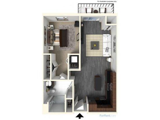 Studio 1 Bathroom Apartment for rent at The Scott At Brush Park in Detroit, MI