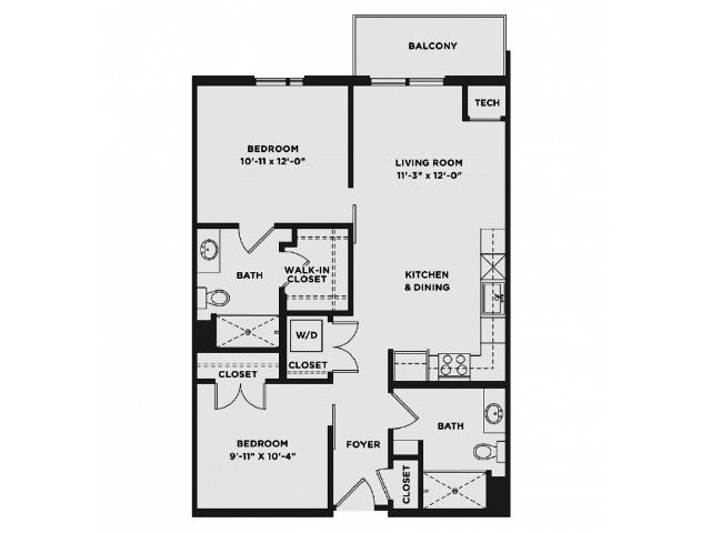 2 Bedrooms 2 Bathrooms Apartment for rent at The Scott At Brush Park in Detroit, MI